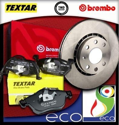 DISCHI FRENO BREMBO PASTIGLIE TEXTAR FIAT PUNTO 188 2//3 SERIE 1.2 con 44 kW ANT