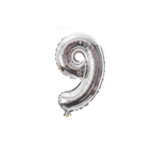 "16/"" 40/"" Silver Gold Letter Number Foil Balloon Wedding Celebration Party Decor"