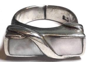 Schmuck & Accessoires Ring Silber 925 Sterling Mit Perlmutt Rg 50 Ø Ca.15,9mm
