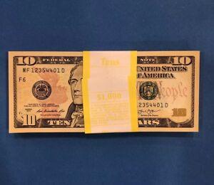 2013 Collectible 5 Crisp New Uncirculated $10 Dollar Bills