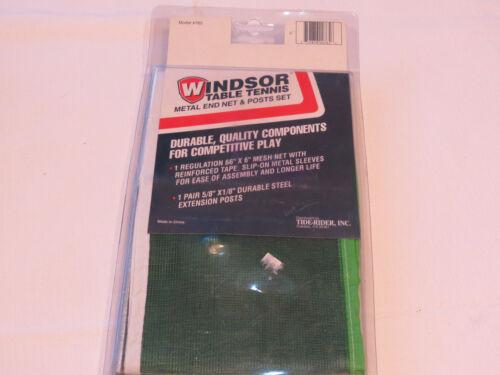 Windsor Table Tennis Metal end net & posts set Model #765 66 X 6 mesh net