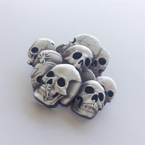 Men Belt Buckle Pile Of Skulls Belt Buckle Gürtelschnalle also Stock in US