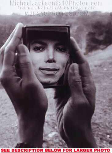 MICHAEL JACKSON FACE IN THE MIRROR RARE 8x10 PHOTO 1