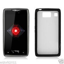 Motorola Droid Razr HD XT926 GUMMY CASE HYBRID COVER CLEAR BLACK