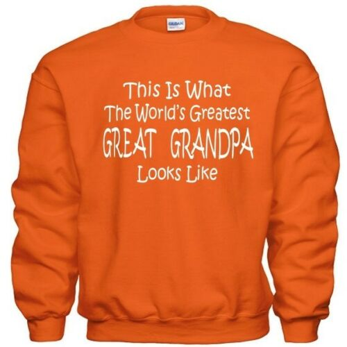 Worlds Greatest GREAT GRANDPA Fathers Day Christmas Gift Pullover Sweatshirt
