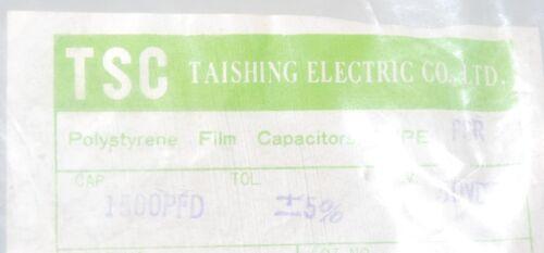1500PF 1.5nF TSC 1500P 50V 5/%  Polystyrene PS Film Radial Capacitor 4pcs