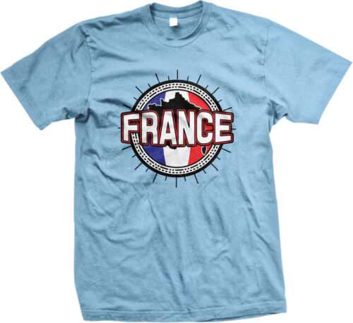 France Flag Ball Country Born From Outline French Francaise FRA FR Men/'s T-Shirt