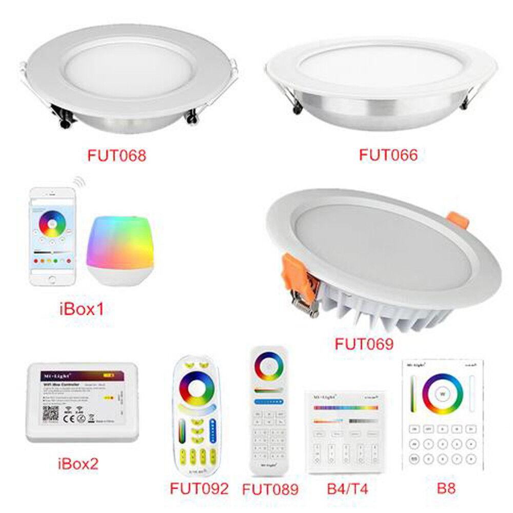 Mi Light LED Recessed Downlight Round RGB CCT WIFI RF RGBW RGB CCT Ceiling Lamp