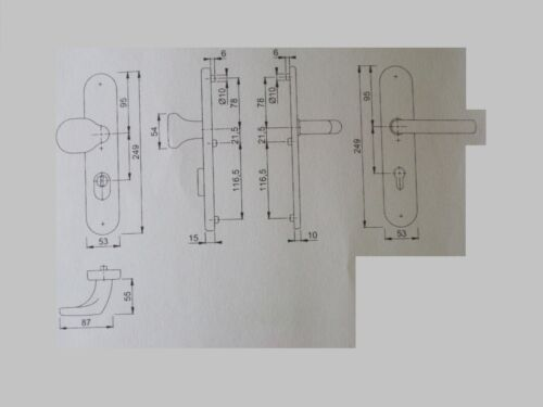 HOPPE Schutzbeschlag Vitoria D//D 1515//3332ZA//3410 Alu F9 mit ZA 72 mm PZ