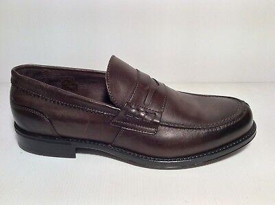Nouveau homme semelle marron ebson cuir chaussures mocassins et slip ons sur