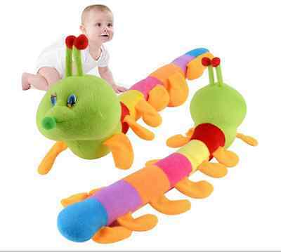 Popular Cute Colorful Inchworm Soft Lovely Developmental Child Baby Toy Doll Toy