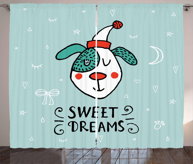 Dreams Quote Curtains 2 Panel Panel Panel Set Decoration 5 Größes Window Drapes ea4700
