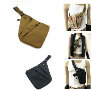 Tactical-Chest-Sling-Bag-Concealed-Thin-Spy-Gun-Holster-Pouch-Hunting-Outdoor