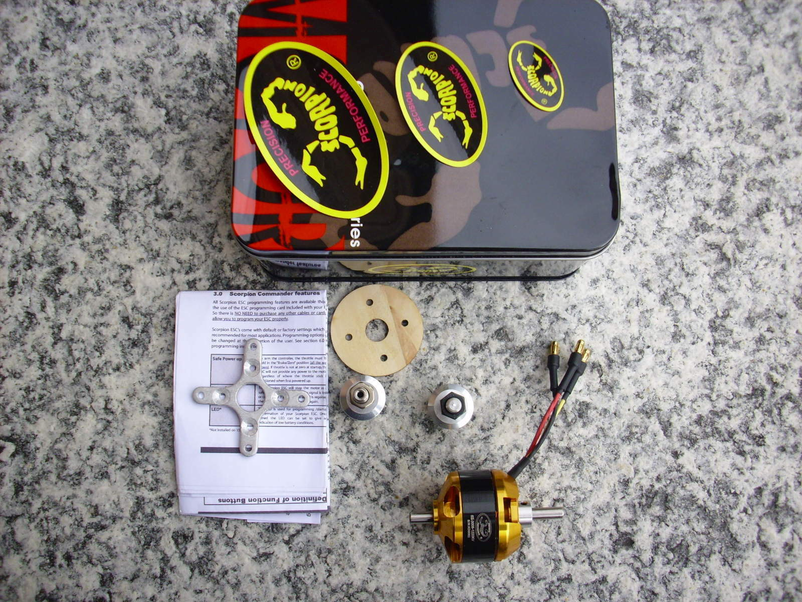 Scorpion SII-3008-1220 Brushless Motor, Kv=1220