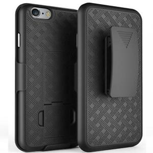 For VERIZON iPHONE 7/8 PLUS - DEFENDER SHELL CASE w KICK-STAND BELT CLIP HOLSTER