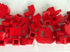 LEGO BM151 6091 RED x 8 BRICK MODIFIED 1 x 2 x 1 1//3 with Curved Top