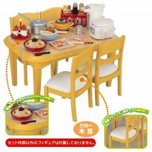 Image Is Loading Re Ment Miniature Doll Mini Dining Table Chairs