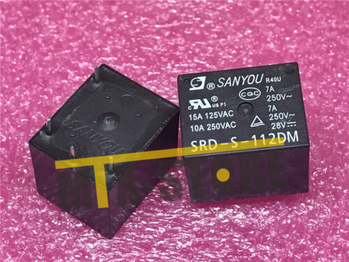 5Pcs 12VDC SRD-S-112DM 15A 125VAC 4Pins Coil Power Relay JD