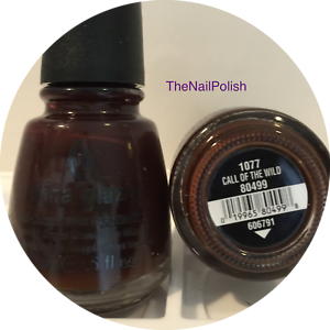 China Glaze Nail Polish Call Of The Wild 1077 80499 Opaque Black Brown Lacquer 19965804998 Ebay