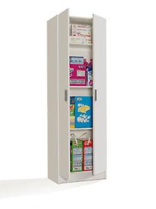 Mueble-Auxiliar-2-puertas-con-estantes-Mueble-Multiusos-Color-Blanco