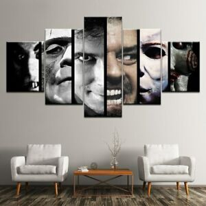 Details About Horror Movie Scary Character 5 Pieces Canvas Print Wall Art Picture Home Decor