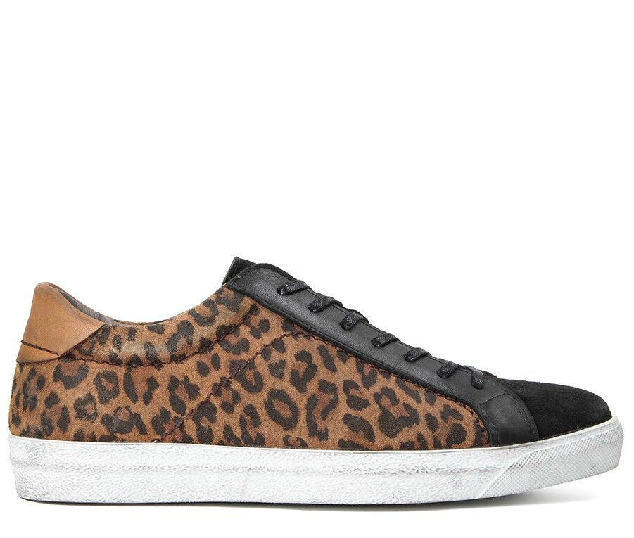H Hudson in Pelle Scamosciata Leopardata Scarpe Da Ginnastica scarpe da ginnastica Taglia 37,38,39,40,41