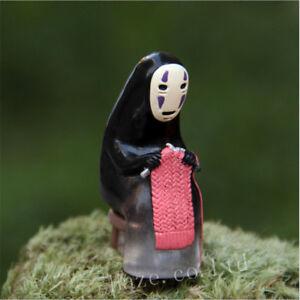 Ghibli-Spirited-Away-No-face-Knitting-Basket-Miniature-PVC-Figure-Toy-No-Box