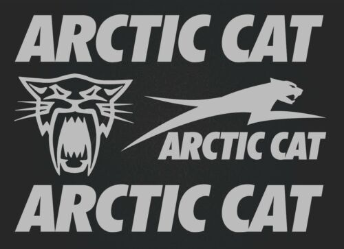 high quality silver SK-179 Arctic cat 4 stickers Set of stickers