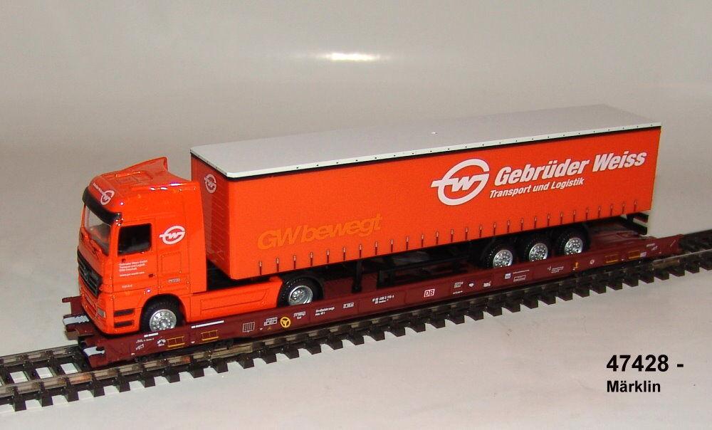 Märklin 47428 Low Floor endwagen Saadkms 690 'Rolling road' suitable 47418