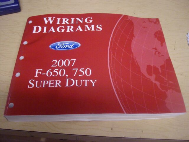 2007 Ford F650 750 Super Duty Wiring Diagrams Service
