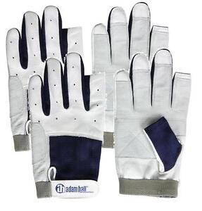Bekleidung 2 Paar BluePort Segelhandschuhe Rindsleder Gr L Rigger Roadie Gloves Handschuhe