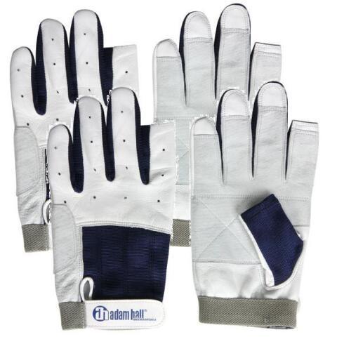 2 Paar Segelhandschuhe Leder Gr L / 9 mit Finger Rigger Gloves Roadie Handschuhe