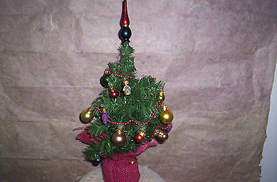 BOYDS BEARS VICTORIAN CHRISTMAS TREE-RETIRED-BLOWN GLASS ORNAMENTS