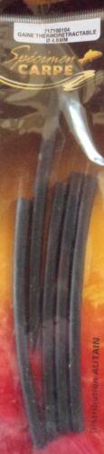 Specimen Carpe Gaine thermorétractable 4mm longueur 10cm x5 tubes