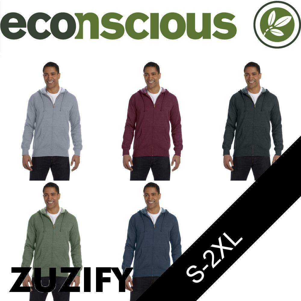 Econscious  Herren Organic/Recycled HeatheROT Full-Zip Hoodie. EC5680