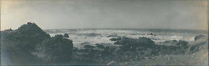 USA-Monterey-California-Vintage-silver-print-Panoramic-View-Vue-panoramique