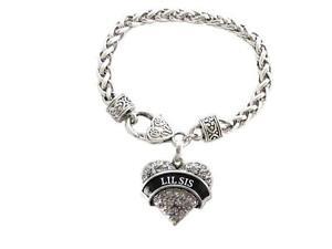 Lil-Sis-Clear-Crystal-Heart-Silver-Bracelet-Jewelry-Sorority-Rush-Gift
