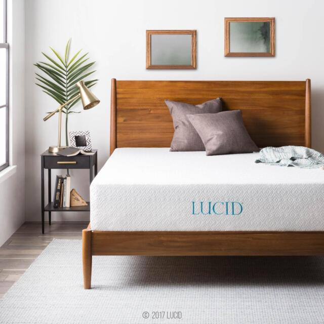 Buy Lucid Lu10ff3pmf Full Size 10 Inch Plush Memory Foam Mattress