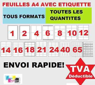 Iniziativa Planche D'étiquettes Feuilles A4 Avec étiquettes Autocollante Pour Imprimante Altamente Lucido