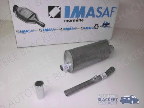 Tuyau D/'échappement IMASAF Auspuffset pour Renault R 5 1.4 Alpine 68 Kw entopf Chrome Ouverture