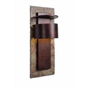 Image Is Loading Kenroy 70285sl Wall Mount Light Fixture Copper Finish