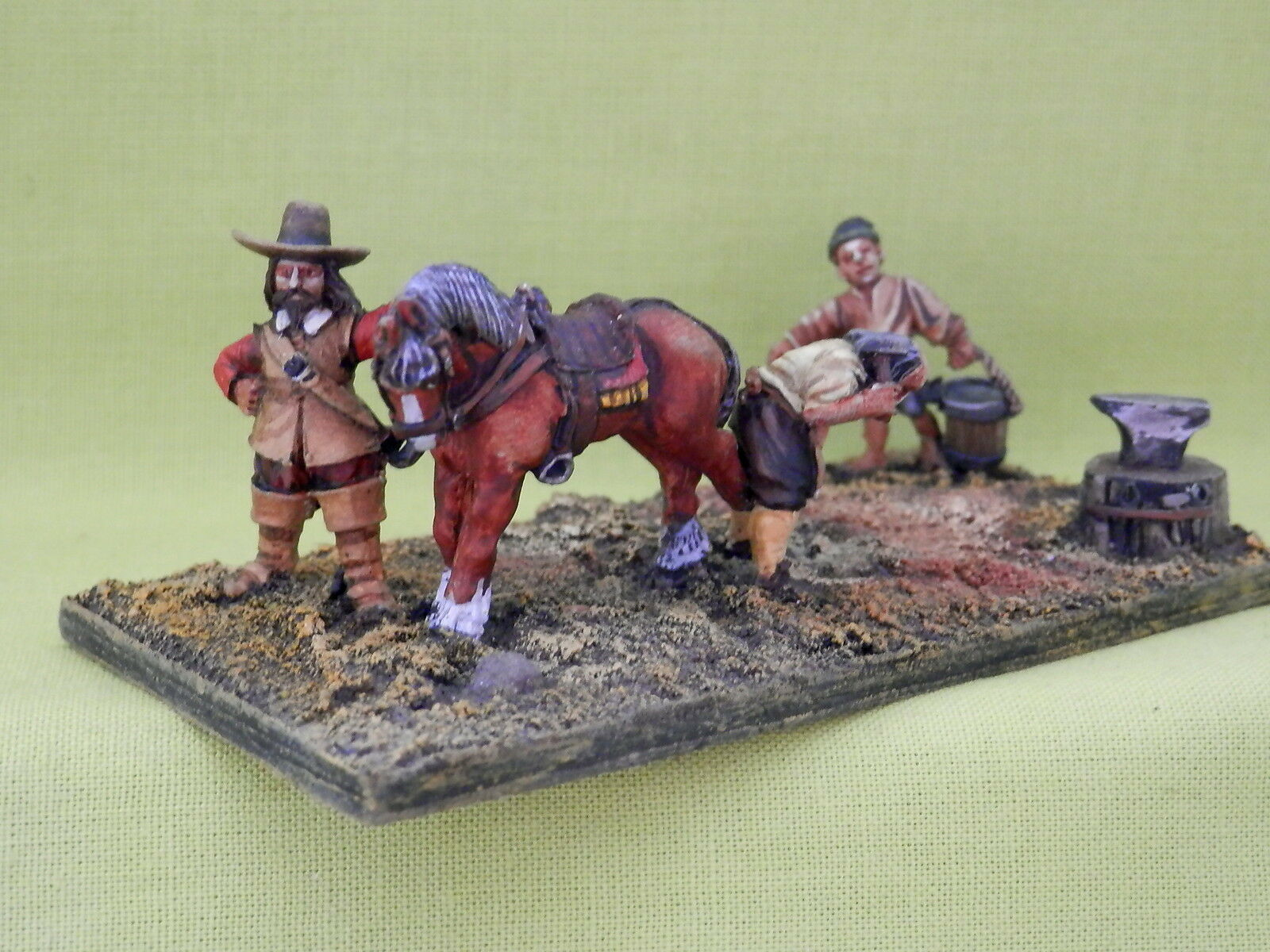 RENEGADE MINIATURES -ENGLISH CIVIL WAR VIGNETTE  PRO PAINTED METAL 28MM A