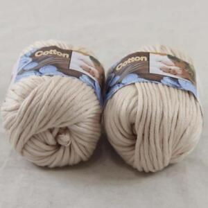 2BallsX50g Chunky Cotton Hand Knitting Smooth Special shawl Thick Yarn Raspberry