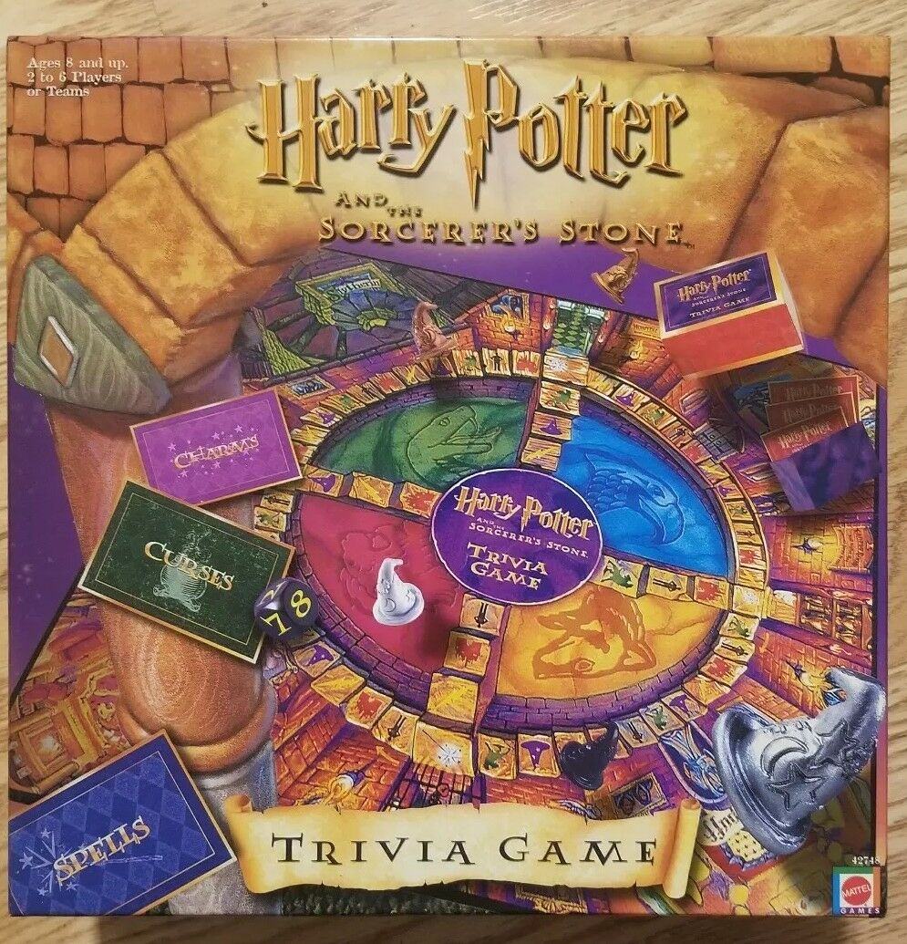 Vintage 2000 Harry Potter and the Stone Trivia Juego Sorcerer's -  totalmente Nuevo
