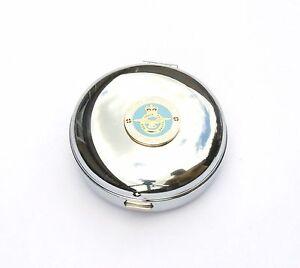 RAF Lest We Forget Travel Chrome Alarm Clock Ideal Army Gift BK61