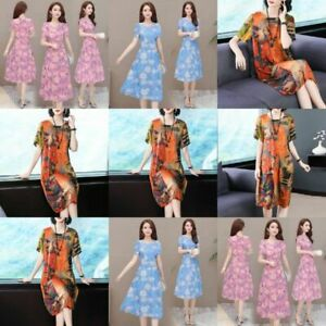 Evening Dress Party Long V Neck summer Maxi Floral women's Casual Womens