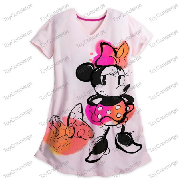 NWT Disney Store Minnie Mouse Women Nightshirt Nightgown M//L XL//2XL,3XL