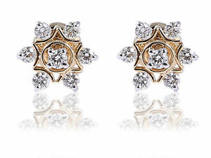 0-56-Cts-Natural-Diamonds-Stud-Earrings-In-Solid-Certified-14Karat-Yellow-Gold