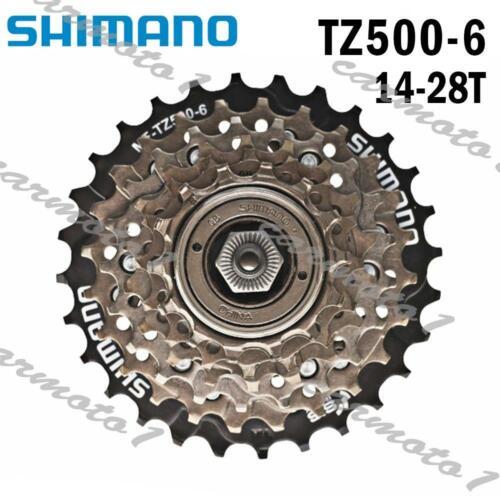 New Shimano MF-TZ500 6-Speed Freewheel Cassette 14-28T for MTB Road Cycling Bike