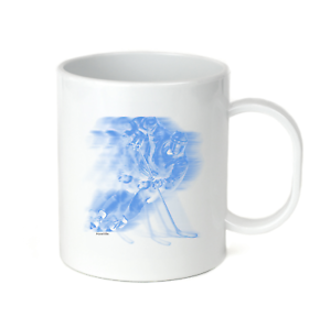 Coffee-Cup-Mug-Travel-11-15-Oz-Sports-Hockey-Player-Motion-Shadow-Blue